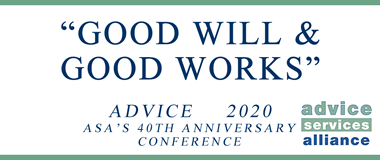 Good Will and Good Works: Advice 2020